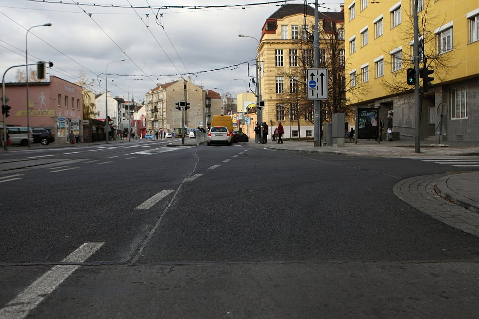 Křenová ulice v Brně.