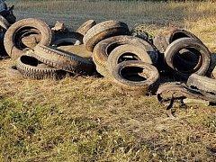 Část odpadu, který vytáhli dobrovolníci z řeky.