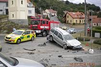 Nehoda v obci Viničné Šumice.