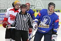 Hokejový souboj dvou brněnských univerzit. Ilustrační foto.
