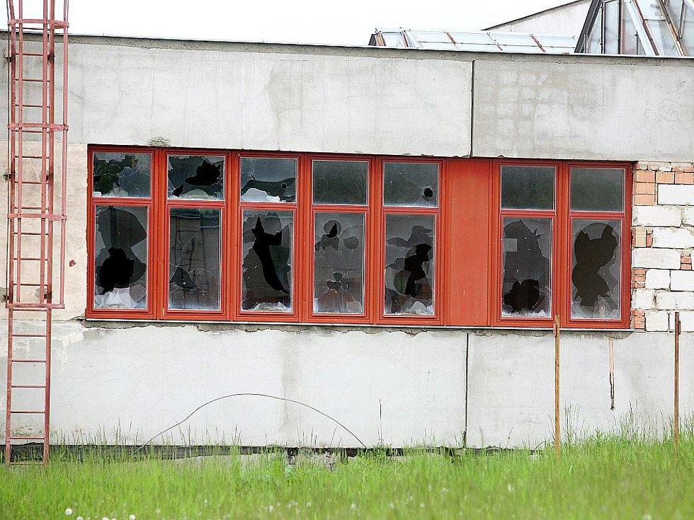 Opuštěný areál továrny Ergon.