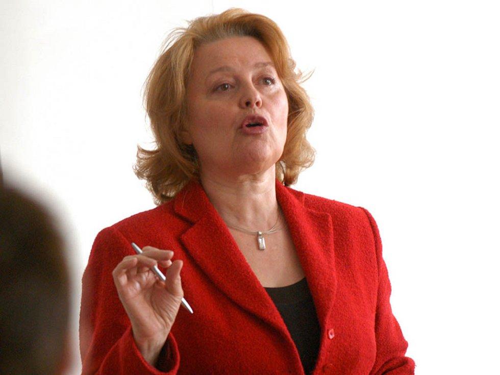 Bývalá herečka a slovenská poslankyně Magdaléna Vašáryová se zúčastnila brněnské konference