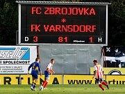 Fotbalisté Zbrojovky Brno proti Varnsdorfu.