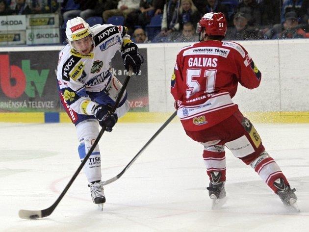 Brněnští hokejisté Komety těsně podlehli Třinci.