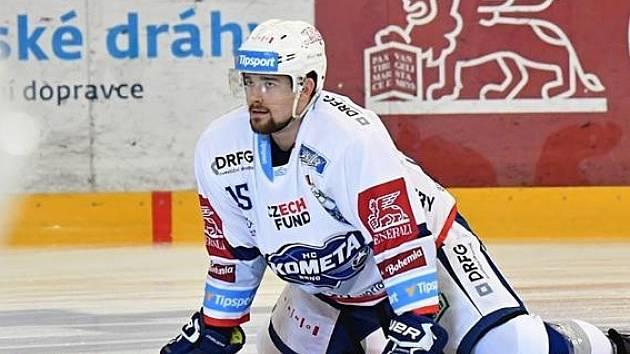 Vyškovský rodák a hokejový útočník Komety Brno Petr Kratochvíl.