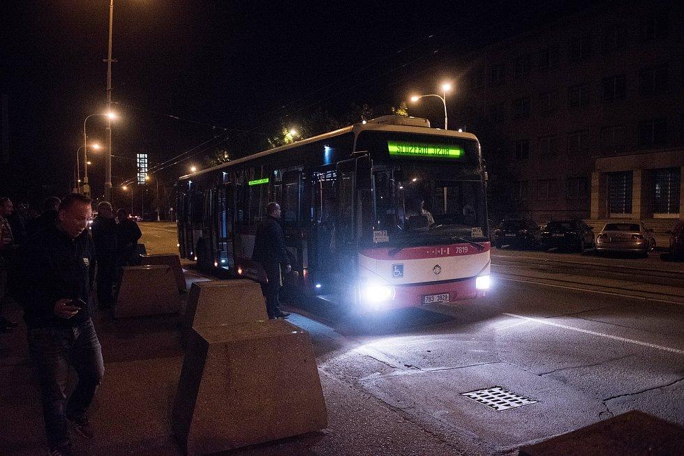 Unikátní noční doprava v Brně, tzv. rozjezdy.