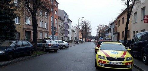 V Šámalově ulici pyrotechnici vyšetřují podezřelé chemikálie.