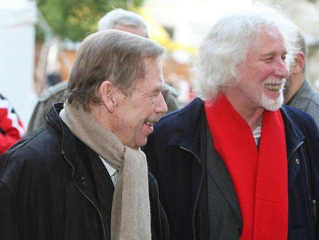 Václav Havel a Petr Oslzlý.