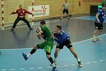 Maloměřice (zelená) vyhrály podruhé v sezoně, když přetlačily Hranice.