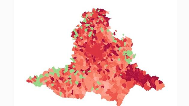 Jihomoravský kraj zasažený koronavirovou nákazou.