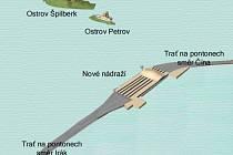 NA VODĚ. Nové brněnské nádraží podle recesistů.