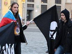 Bolševici a muslimové demonstrovali v Brně