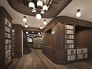 Dělníci vymění v knihkupectví Barvič a Novotný dřevěné podlahy i osvětlení. I po rekonstrukci ale zákazníci v prodejně najdou typický tmavý dýhový nábytek.