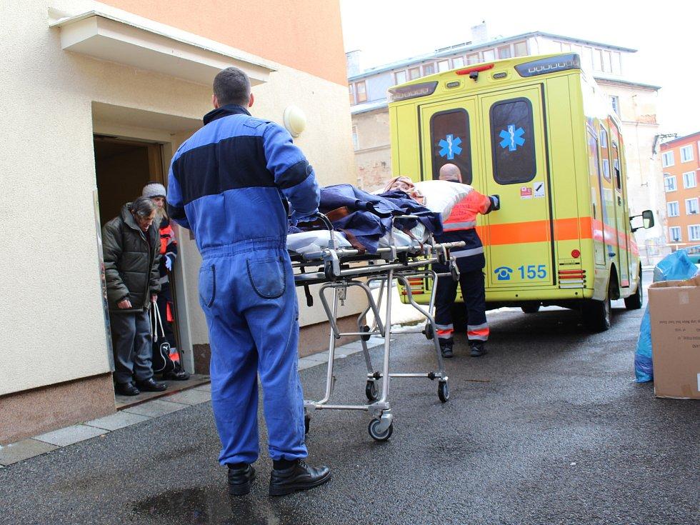 Záchranáři v akci.