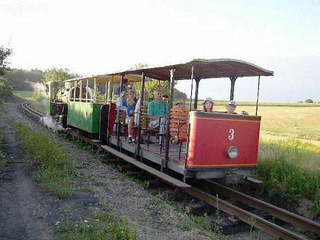 Vláček ze zbýšovského Muzea průmyslových železnic.