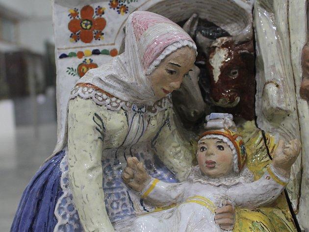Na unikátní betlémy z Podluží, ale i Vysočiny od láká břeclavské muzeum a galerie. V prostorách pod vodárnou lidé najdou také keramický betlém Ferdinanda Štábly.