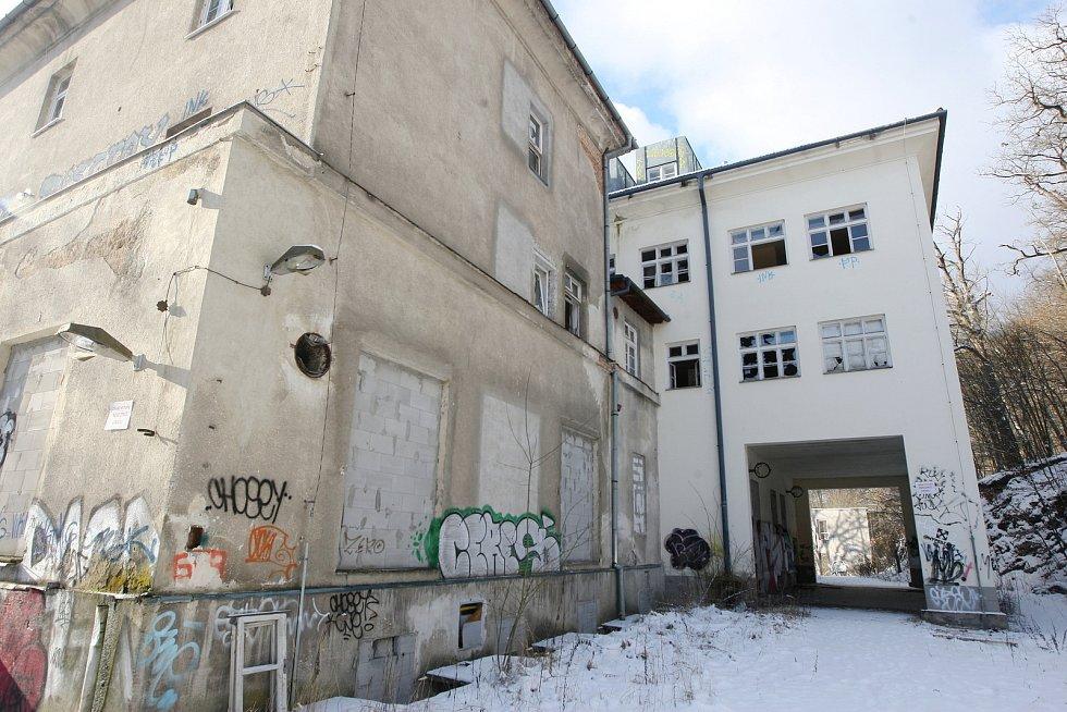 Bývalá léčebna dlouhodobě nemocných v Bílovicích nad Svitavou.