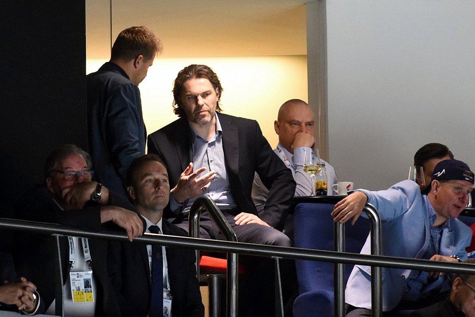 Národní tým podporoval v hledišti i Jaromír Jágr.