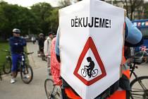 Téměř dvě stovky lidí vyjely na dvacátou cyklojízdu Brnem, aby tak upozornily na špatné podmínky pro cyklisty v brněnských ulicích.