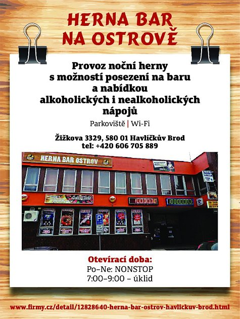 35. Herna bar Ostrov Havlíčkův Brod