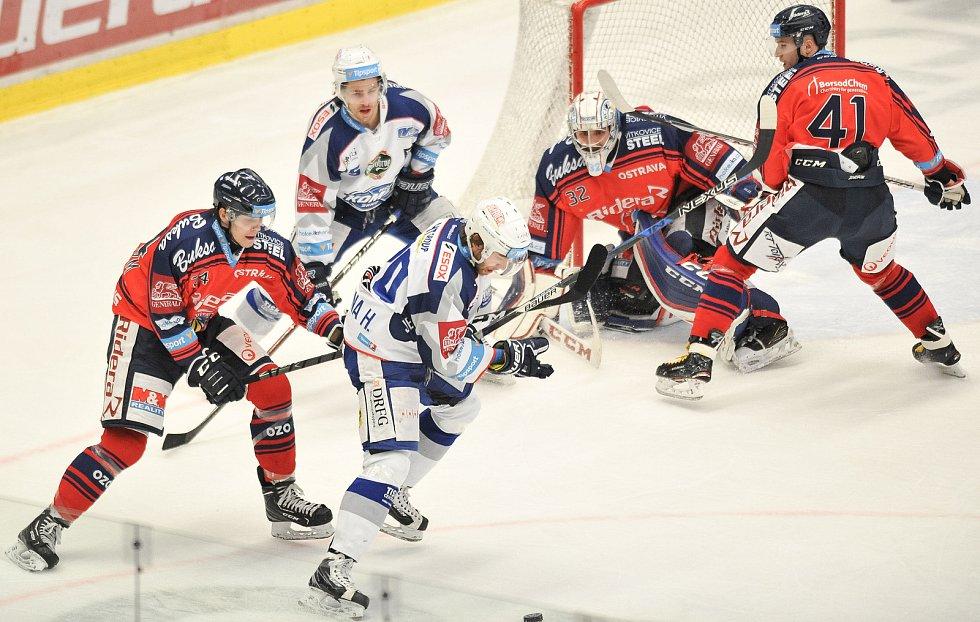 Utkání 35. kola hokejové extraligy: HC Vítkovice Ridera vs. HC Kometa Brno, 30. prosince 2017 v Ostravě.