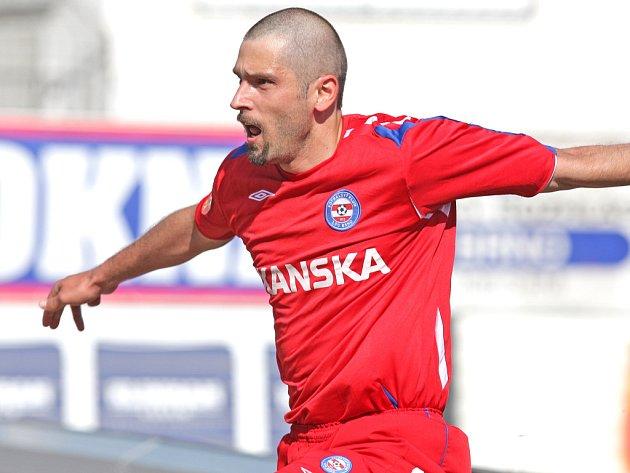 Fotbalista Petr Pavlík ještě v dresu 1. FC Brno.