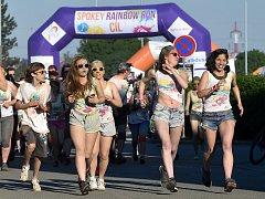 Běžecký závod Rainbow Run 2017 v Brně.