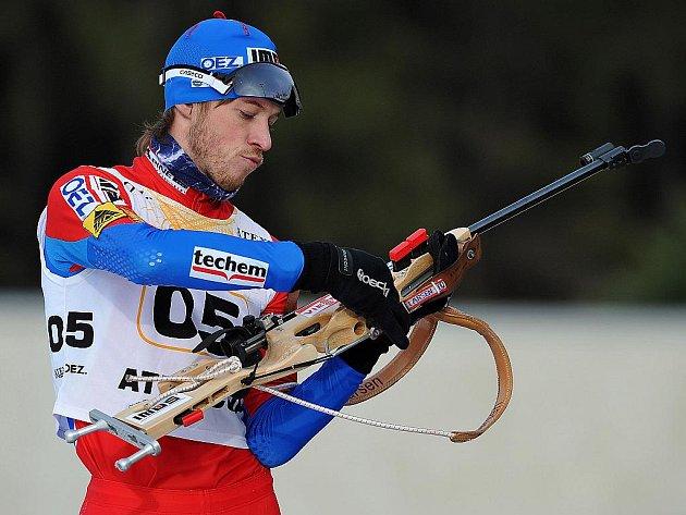 Biatlonista Jaroslav Soukup.