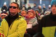 Stovky nadšených fanoušků na Olympijské festivalu v Brně zhlédly předání zlaté medaile Ester Ledecké.