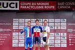 Hendikepovaný cyklista z Černé Hory na Blanensku skončil druhý v silničním závodě v Kanadě.
