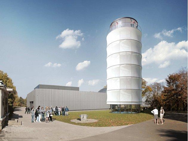 Plánovaná Sluneční věž u brněnské hvězdárny