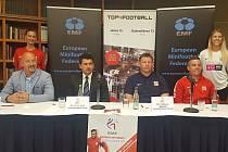 Tisková konference před startem mistrovství Evropy v malém fotbalu do 21 let.