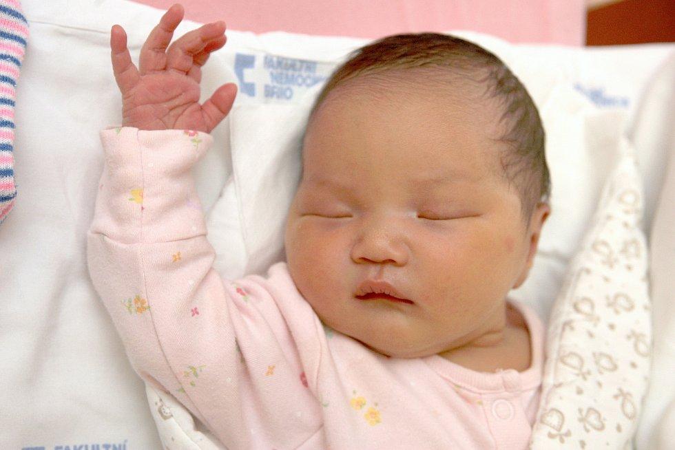 26 – Khanh Linh Nguyen, Brno, 3. února 2020, 03.40, Fakultní nemocnice Brno, 48 centimetrů, 3340 gramů