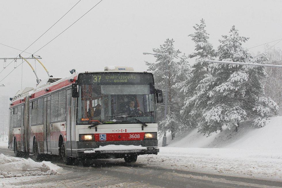 Brněnská trolejbusová linka.