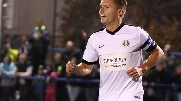 Fotbalista Ondřej Paděra, který patří v malém fotbale k nejlepším střelcům, po utkání s tuniskou reprezentací..