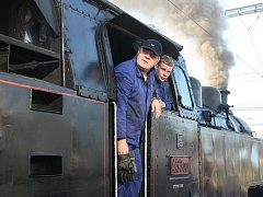 Historický parní vlak.