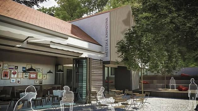 Koncem srpna začnou ve Šlapanicích na Brněnsku stavět nový městský Dům v parku, v němž bude knihovna, kavárna, restaurace i venkovní terasa.