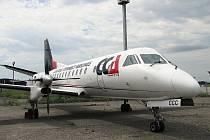 Letoun Saab 340, který létá na lince mezi Brnem a chorvatským Zadarem.