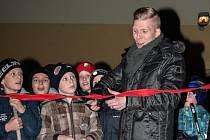 Hostem otevření nové ledové plochy v brněnských Řečkovicích byl bývalý brankář hokejové Komety Sasu Hovi.