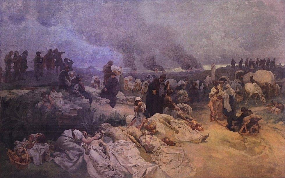 Petr Chelčický: Neoplácet zlem zlé, Alfons Mucha.