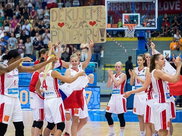 České basketbalistky na na domácím mistrovství Evropy.