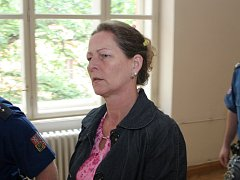 Alena Veselá u brněnského soudu.