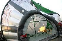 Nad Brno se v sobotu v podvečer vznesl nezvyklý horkovzdušný balon. Svým tvarem totiž připomínal kosmickou loď Vostok a stejně jako ona se i jmenoval.