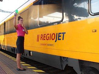 Vlak RegioJet. Ilustrační foto.