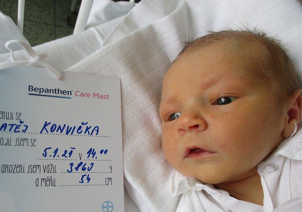 Matej Konvička, 5. 1. 2021, Čejkovice, Nemocnice Břeclav, 3860 g, 54 cm