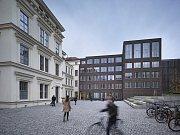 Filozofická fakulta Masarykovy univerzity v Brně. Proměnu areálu navrhl tým z brněnského studia Pelčák a partner architekti.