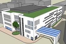 Vizualizace plánovaného parkovacího domu.