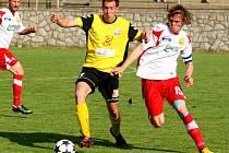Fotbalisté Rosic v utkání se Zlínem.