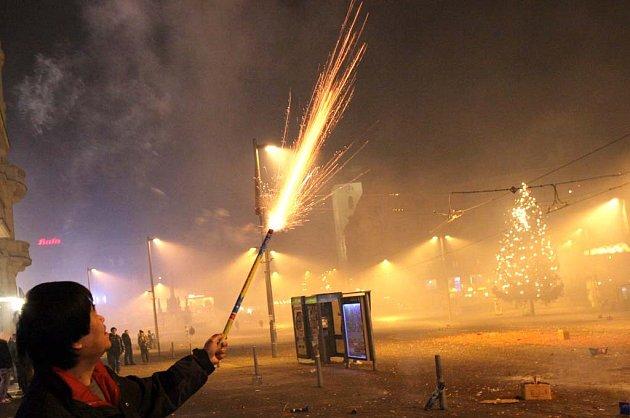 Silvestrovské oslavy na náměstí Svobody