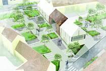 Nové srdce Tuřan. Návrhy pro novou podobu Tuřanského náměstí představili studenti brněnského Vysokého učení technického.